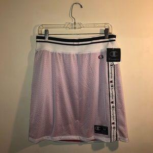 Champion Skirts - Champion Skirt brand new! pink white mesh skirt